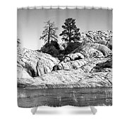 Willow Lake Number One Bw Shower Curtain by Heather Kirk