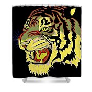 Wild At Heart Shere Khan Shower Curtain