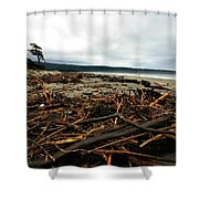 Wild Beach New Zealand Shower Curtain