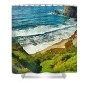 Wild Beach Shower Curtain