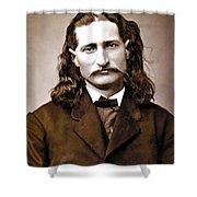 Wild Bill Hickok Painterly Shower Curtain by Daniel Hagerman