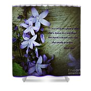 Wild Blue Flowers And Innocence 2 Shower Curtain