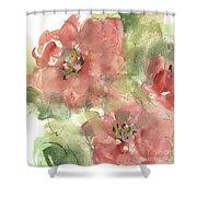 Wild Camellia 1 Shower Curtain
