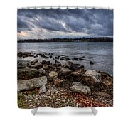 Wild Clouds On The Lake Shower Curtain