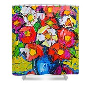 Wild Colorful Flowers Shower Curtain