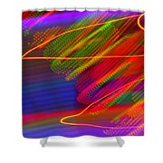 Wild Electric Sky In The Cosmos Shower Curtain