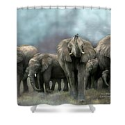 Wild Family Shower Curtain