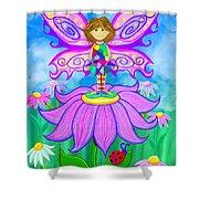 Wild Flower Fairy  Shower Curtain