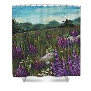 Wild Flower Field Shower Curtain