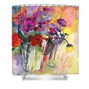 Wild Flowers Bouquets 02 Shower Curtain