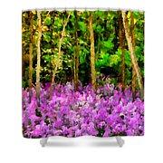 Wild Forest Violets Shower Curtain