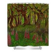 Wild Foxgloves Shower Curtain