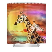 Wild Generations - Giraffes  Shower Curtain