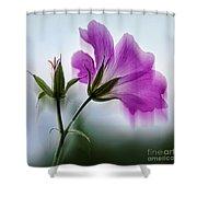 Wild Geranium Abstract Shower Curtain