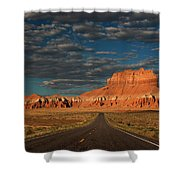 Wild Horse Butte And Road Goblin Valley Utah Shower Curtain