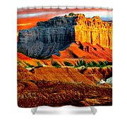 Wild Horse Butte Utah Shower Curtain