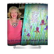 Wild Iris Collage At Glasshopper Gifts Show Shower Curtain