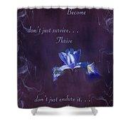 Wild Iris Inspirational Print Shower Curtain