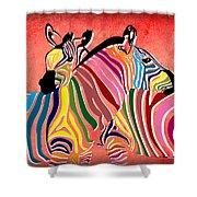 Wild Love  Shower Curtain by Mark Ashkenazi