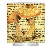 Wild Mushrooms Warm And Subtle Shower Curtain