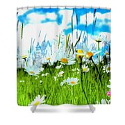 Wild Ones - Daisy Meadow Shower Curtain