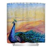 Wild Peacock Shower Curtain