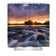Wild River II Shower Curtain by Davorin Mance