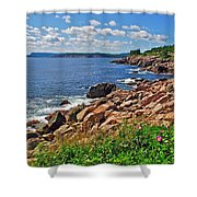 Wild Roses At Lakies Head In Cape Breton Highlands Np-ns Shower Curtain