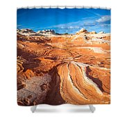 Wild Sandstone Landscape Shower Curtain by Inge Johnsson