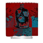 Wild Still Life - 0101a - Red Shower Curtain