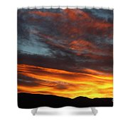 Wild Sunrise Over The Mountains Shower Curtain