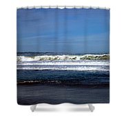 Wild Surf At Seaside Beach Shower Curtain
