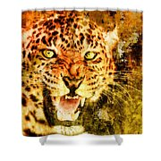 Wild Threat Shower Curtain
