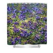 Wild Violets  Shower Curtain
