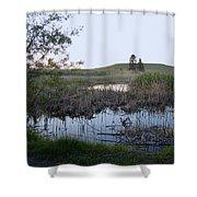 Wild Wetland Shower Curtain
