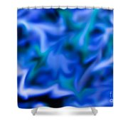 Wild Wetlands Blue  Shower Curtain