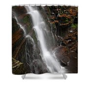 Wilderness Waterfall Dawn Shower Curtain