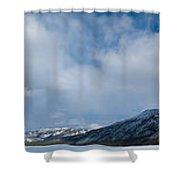 Wildernis Landscape Panorama In Yukon Territory Shower Curtain