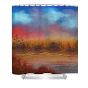 Wildfire Fire In The Sky Shower Curtain