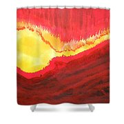Wildfire Original Painting Shower Curtain
