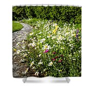Wildflower Garden And Path To Gazebo Shower Curtain