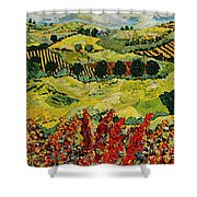 Wildflower Jungle Shower Curtain