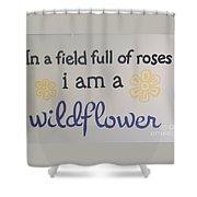 Wildflower Phrase Shower Curtain