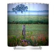 Wildflowers And Fog Shower Curtain