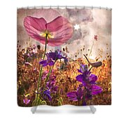 Wildflowers At Dawn Shower Curtain