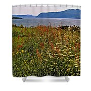 Wildflowers At Lobster Cove Head In Gros Morne Np-nl Shower Curtain