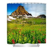 Wildflowers At Logan Pass Shower Curtain