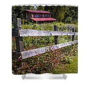 Wildflowers At The Fence Shower Curtain