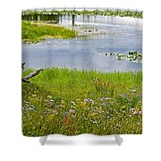 Wildflowers By Heron Pond In Grand Teton National Park-wyoming Shower Curtain