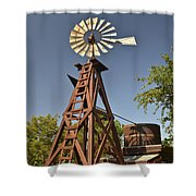 Wildseed Farms Windmill Shower Curtain